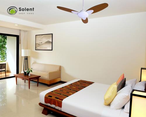 Solent Ceiling Fan in Bedroom