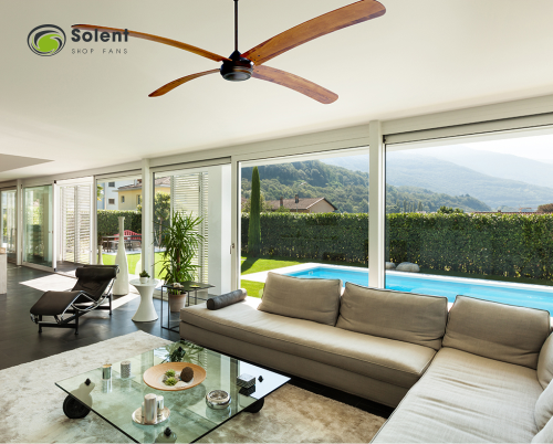 A lovely ceiling fan is more than just an ornament during the winter months.